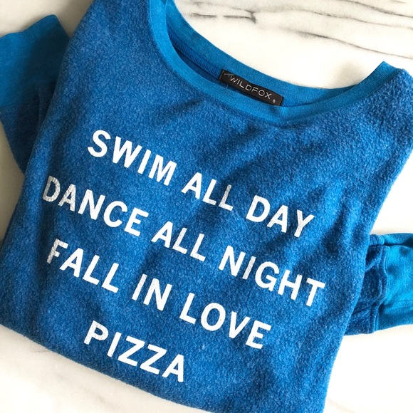 Wildfox Sweaters - Wildfox Pizza Party BBJ Long Sleeve Sweatshirt Top